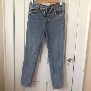 Vintage fit high waisted jeans